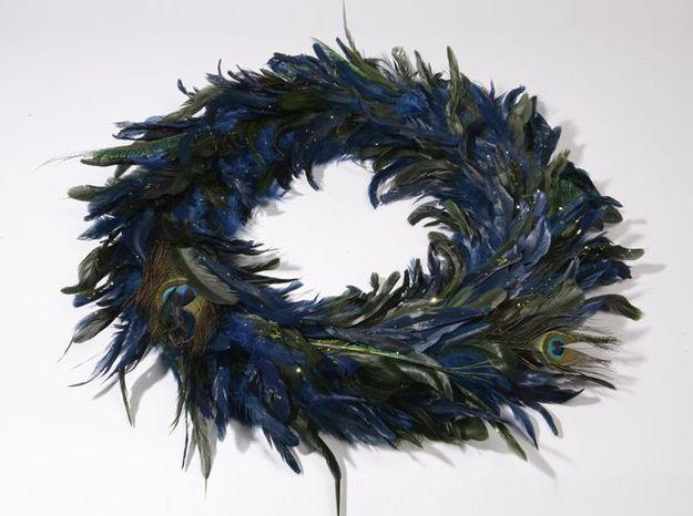 Couronne originale noel plumes