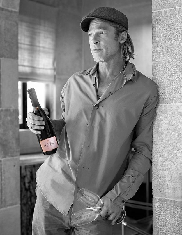 EXCLU Découvrez « Fleur de Miraval » le champagne rosé de Brad Pitt