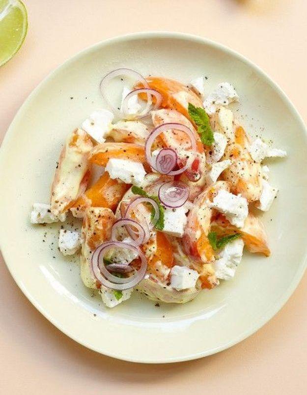Recette minceur rapide : salade abricots-feta