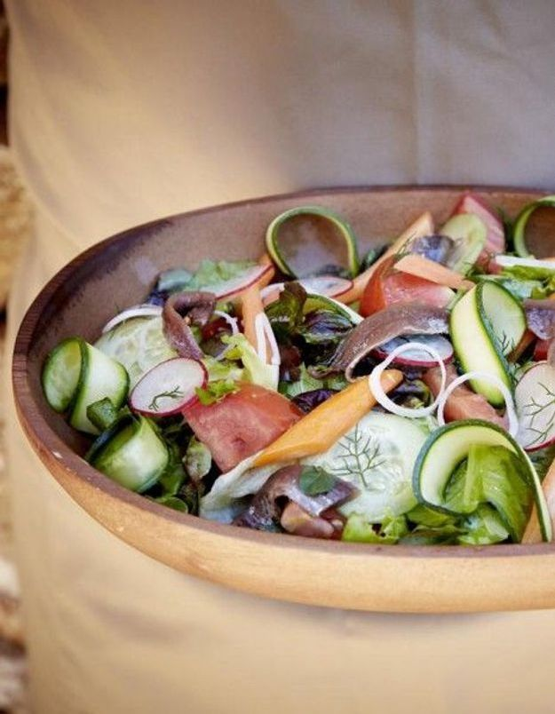 Recette minceur rapide : salade du jardin