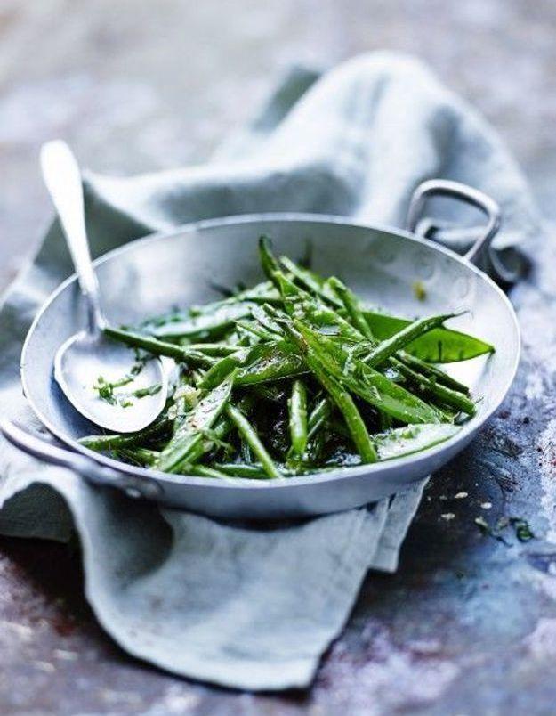 Recette minceur soir : wok de haricots verts et pois gourmands
