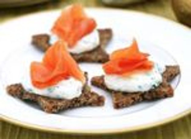 Toasts de saumon par le chef Philippe Conticini