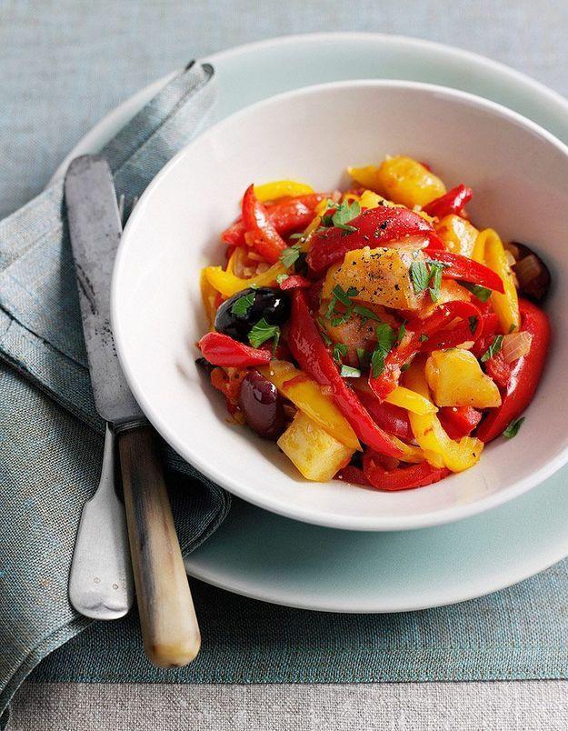 Tartare de poivrons grillés et pignons