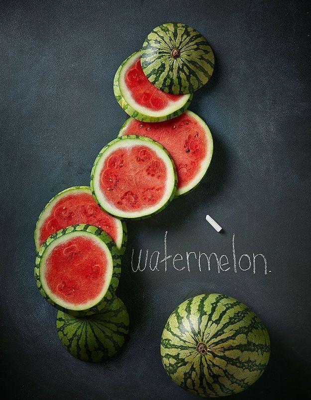 Dessert léger : Carpaccio de pastèque, melon et melon jaune
