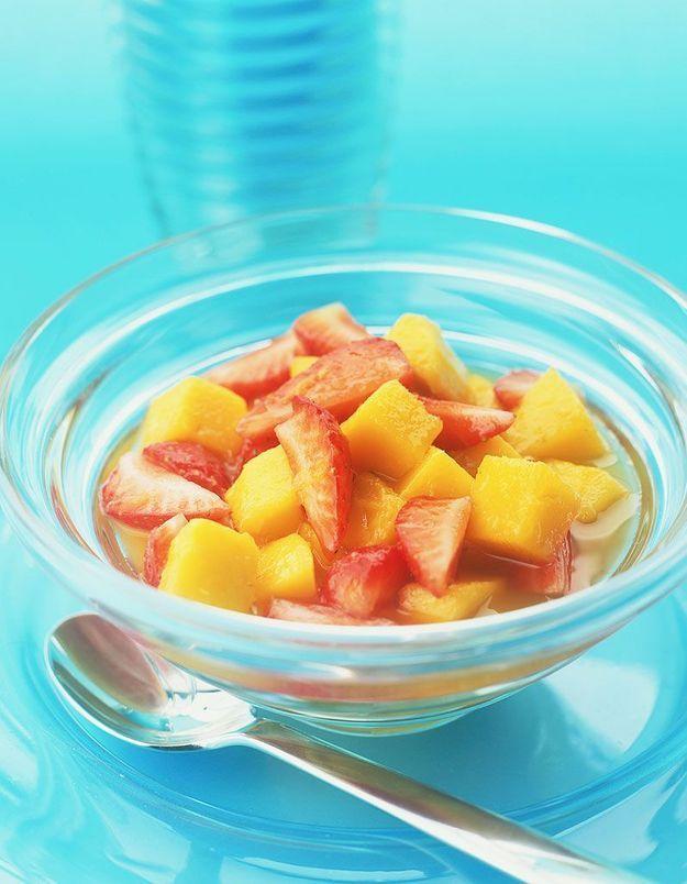 Dessert léger : Salade de fruits jaunes au gingembre
