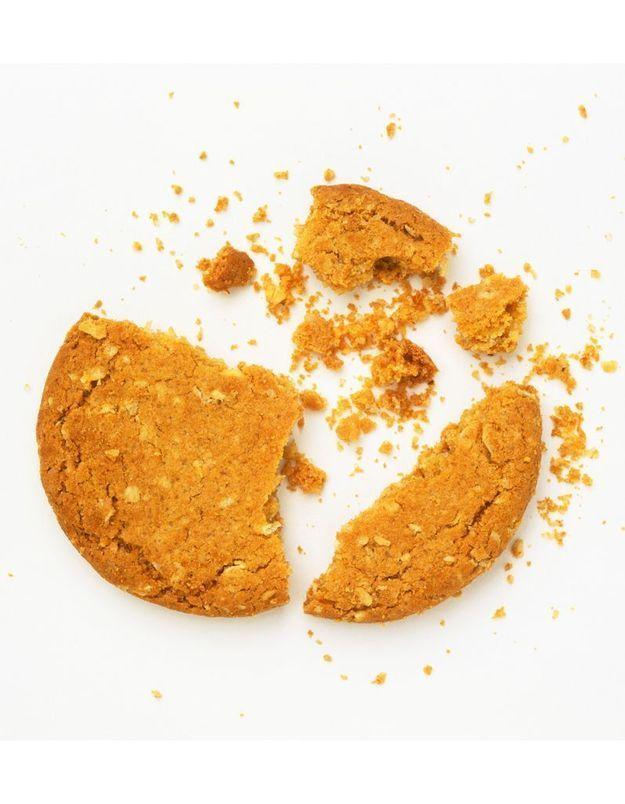 Avec des biscuits