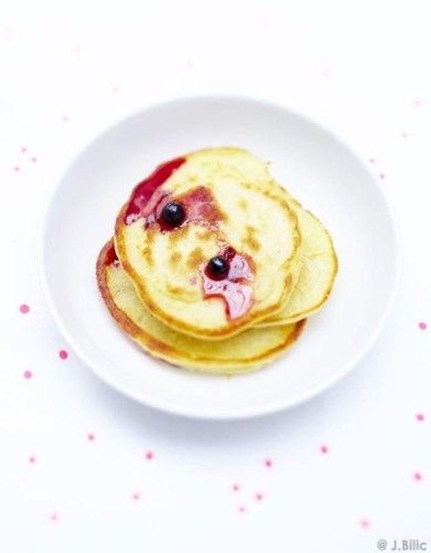 Pancakes et myrtilles