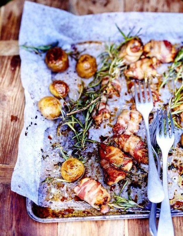 Cuisine recettes été grandes tablées : Bouchées de poulet grillées