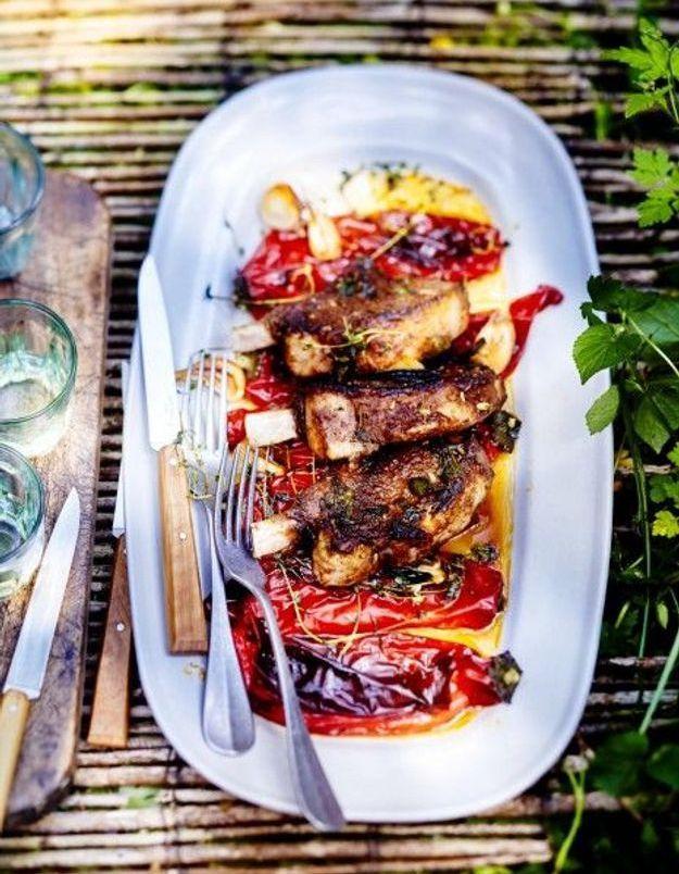Cuisine recettes été grandes tablées : Côtes de porc ibérico