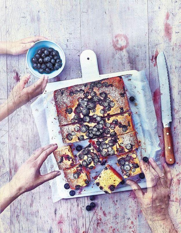 Cuisine recettes été grandes tablées : Pain de maïs aux myrtilles