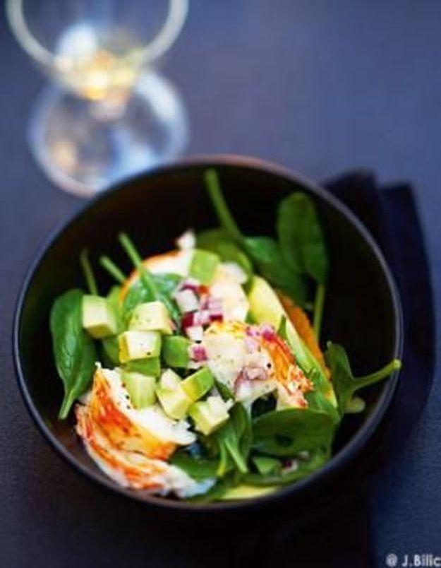 Cuisine recettes été grandes tablées : Salade de langouste tiède