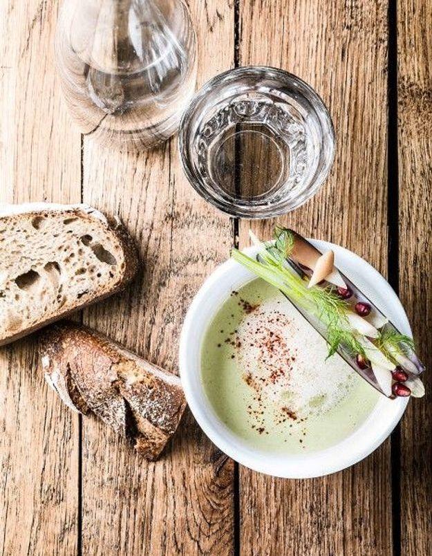 Soupe de légumes : Crème de fenouil, coquillages