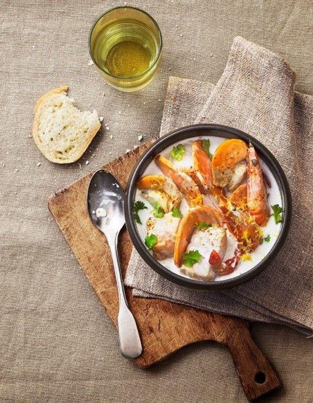 Soupe de légumes : Soupe de poisson exotique