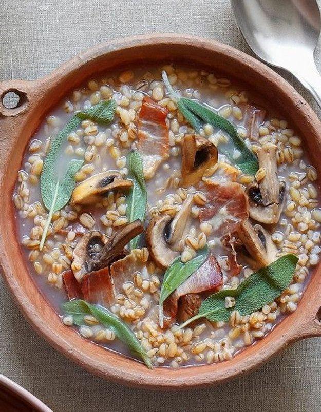 Soupe de légumes : Soupe orge et sauge
