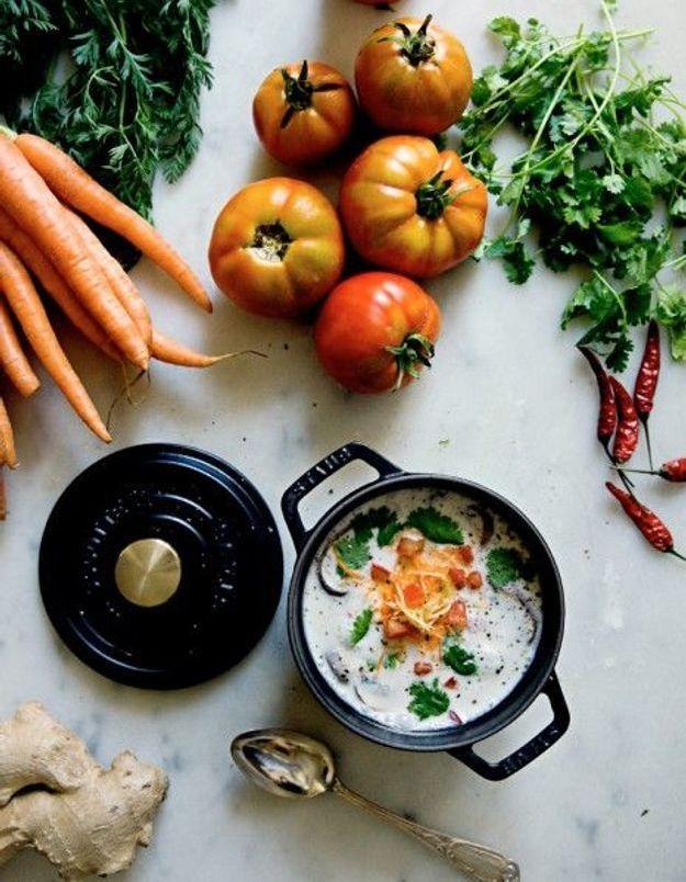 Soupe de légumes : Soupe thaïlandaise Tom Kha Gai