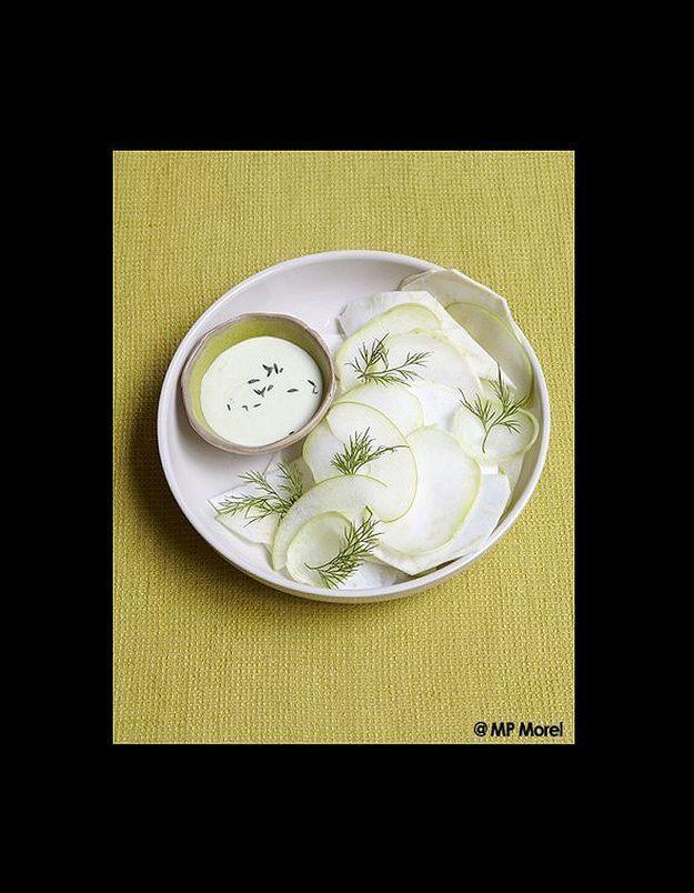 Salade blanche sauce wasabi