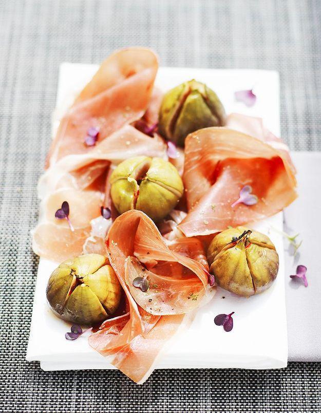 Remplir des figues violettes
