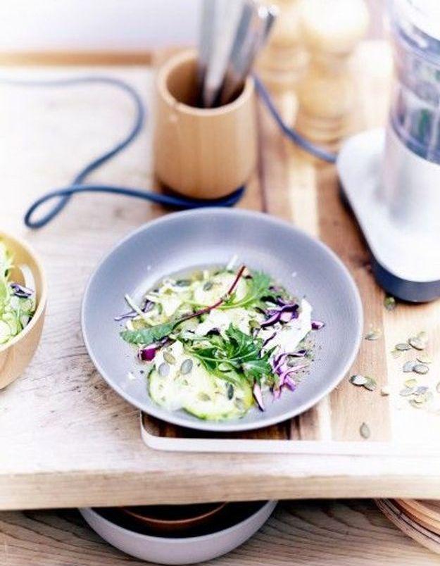 Salade croquante, vinaigrette au citron