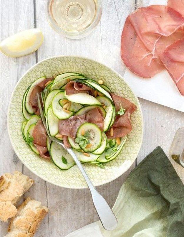 Salade de courgettes à la bresaola