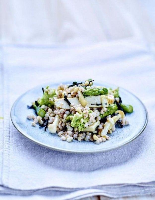 Salade de quinoa et asperges vertes