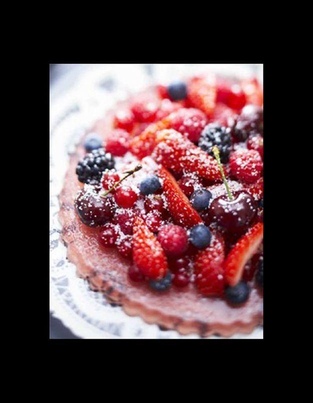 Fausse tarte rouge et noire