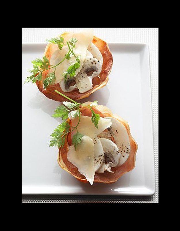 Tartelette croustillante au jambon cru