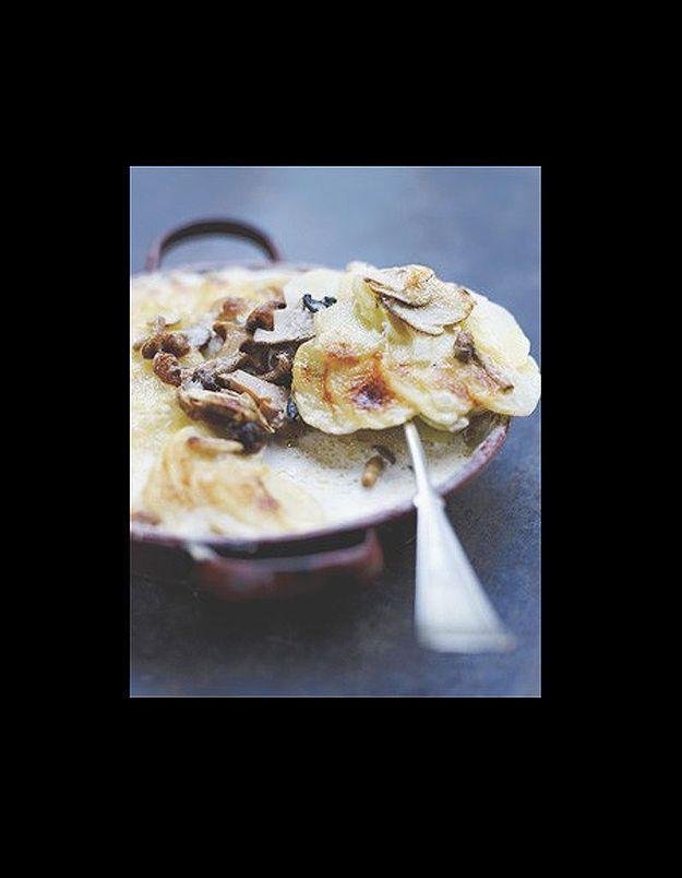 Gratin dauphinois aux champignons mélangés