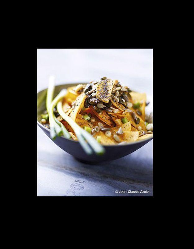 Salade de butternut aux graines et huile de courge