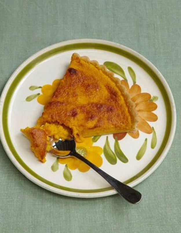 Tarte à la citrouille - 70 recettes qui vont vous faire aimer l automne -  Elle à Table 50f75e52181