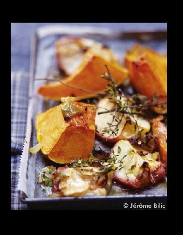 Légumes et fruits au four