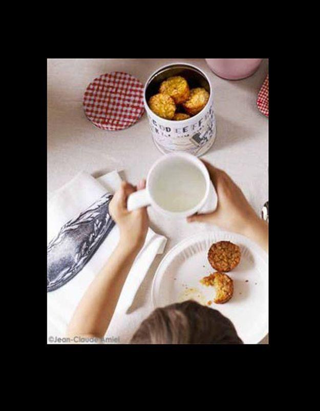 Muffins de flocons d'avoine aux pommes