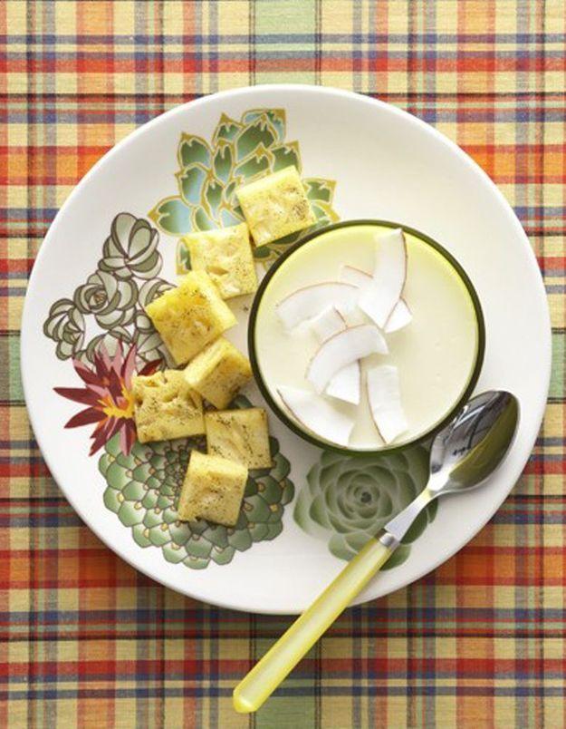 Blanc-manger coco, ananas vanillé