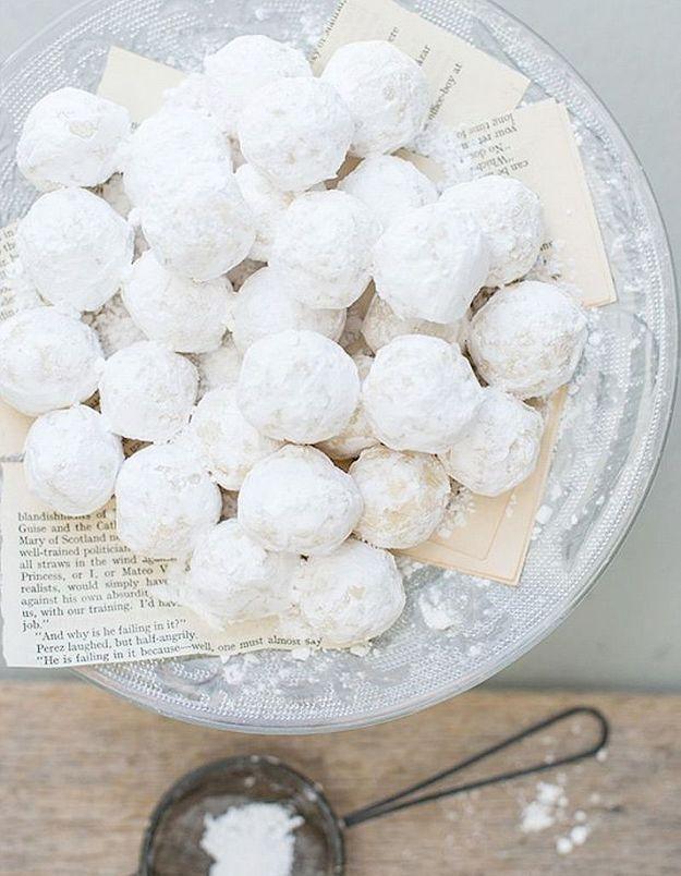 Truffes blanches de chocolat blanc