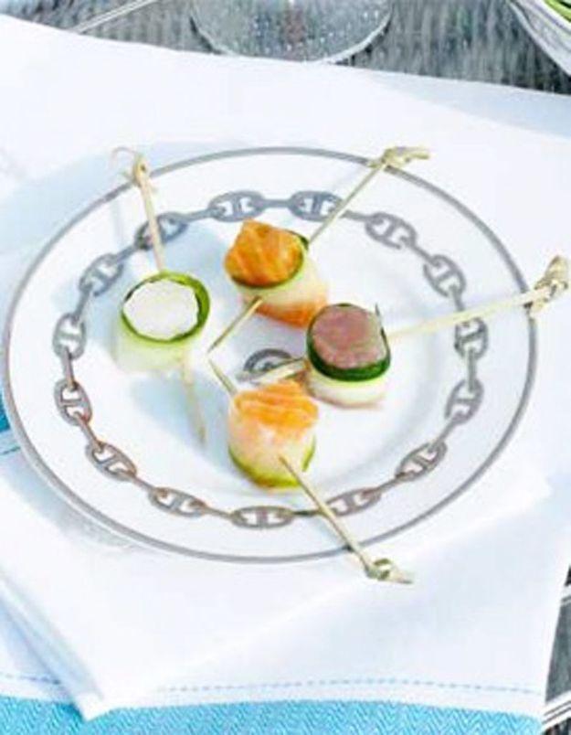 Bouchées de poisson cru, marinade au gingembre