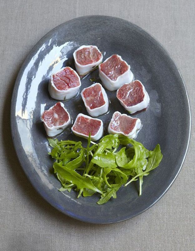 Makis de bœuf au lard