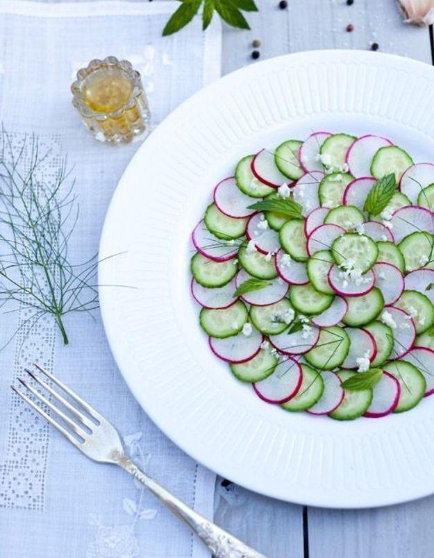 Carpaccio de légumes concombre
