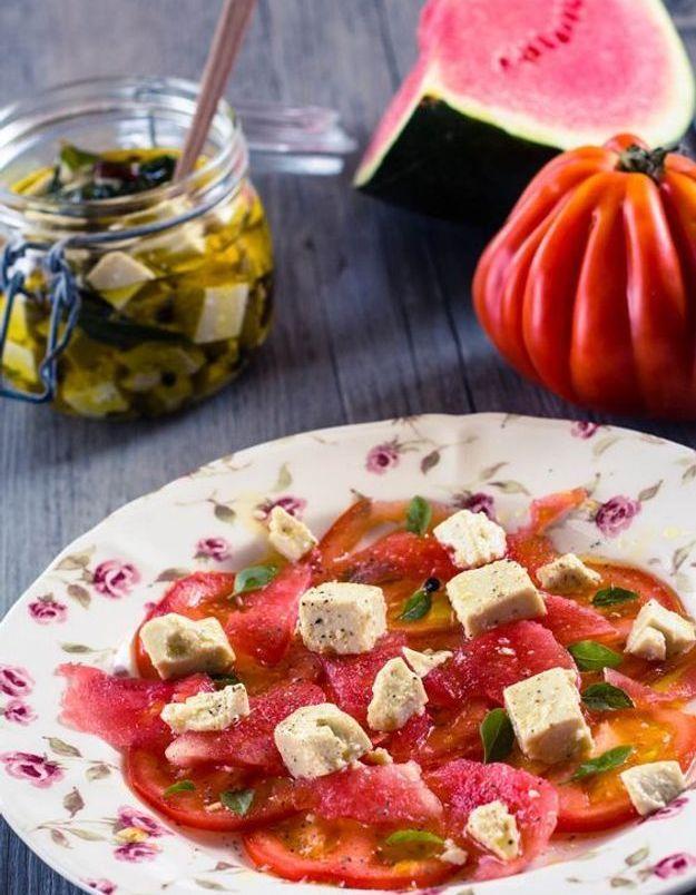 Carpaccio de légumes tomate