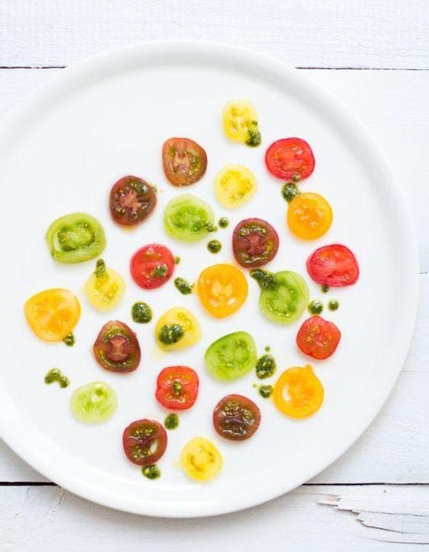 Carpaccio de légumes tomates cerises