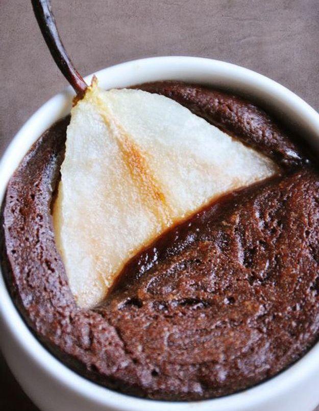 Mi-cuit chocolat et poire