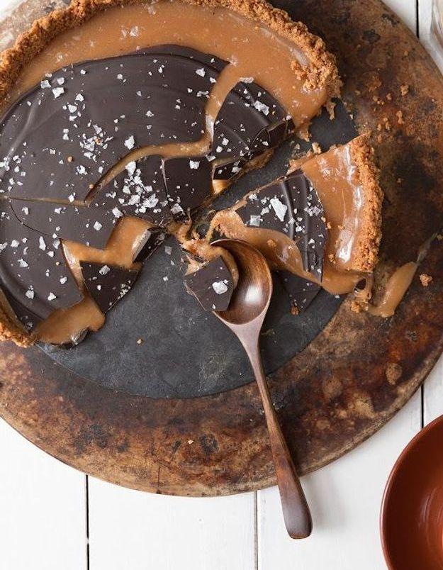 Tarte chocolat caramel salé