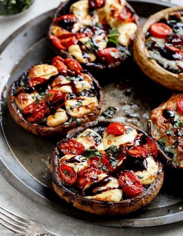 Champignons tomate mozza