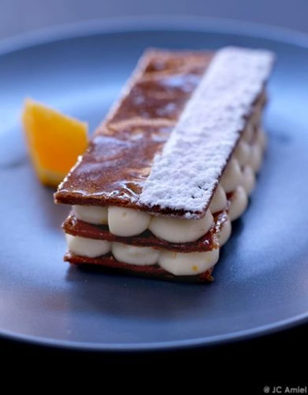 Millefeuille caramelise orange