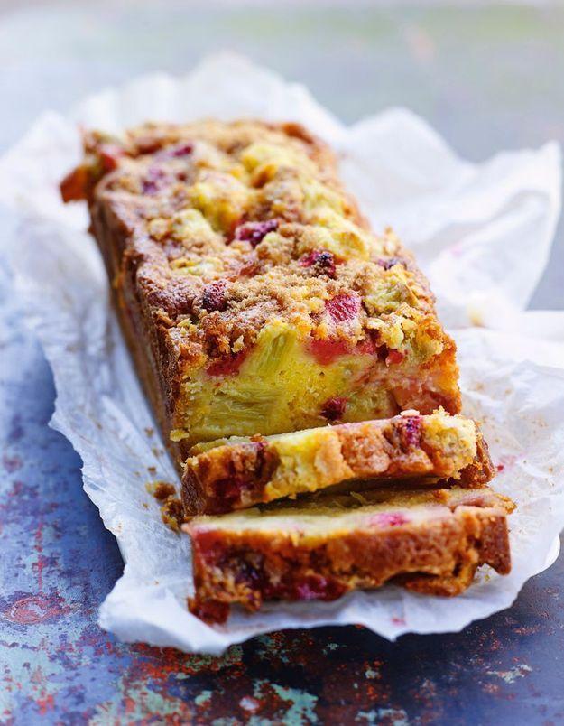 Cake Fraises Rhubarbe