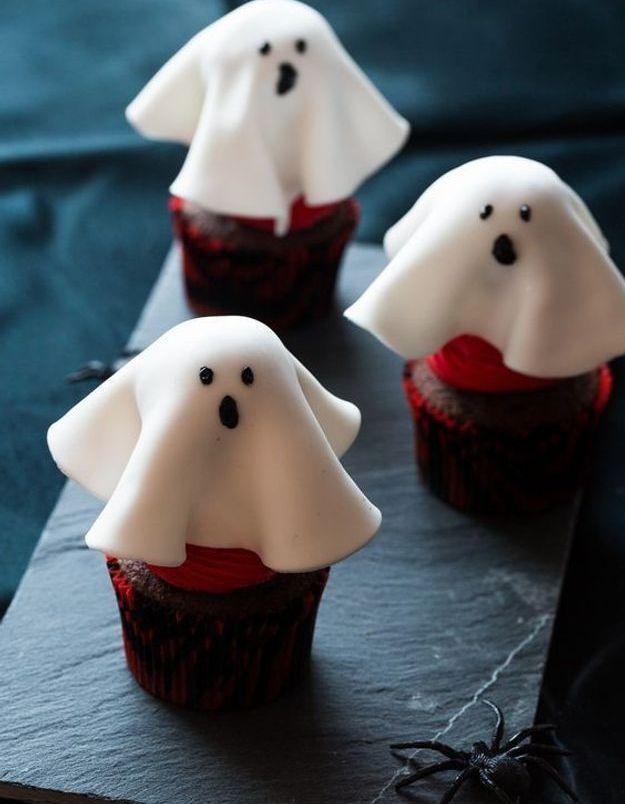 Cupcakes Halloween fantôme