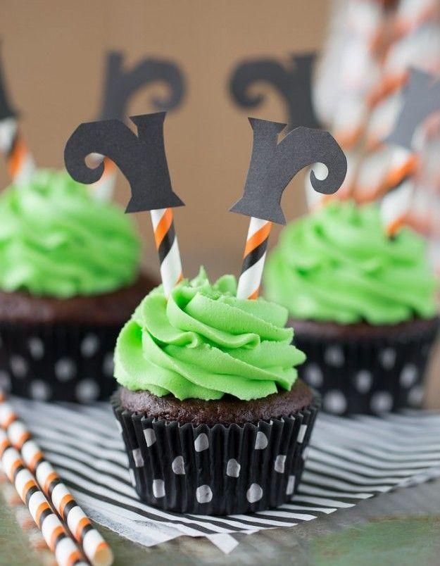Cupcakes sorcière Halloween
