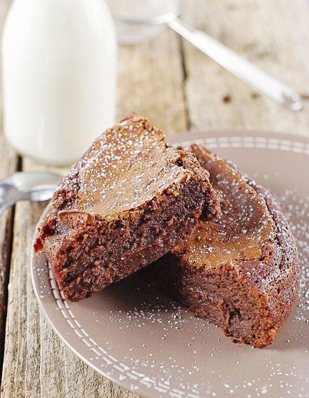 Dessert au chocolat noir : fondant chocolat noir