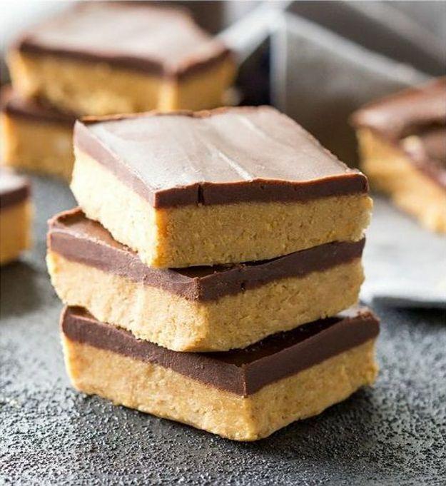 Bouchées au beurre de cacahuètes et chocolat