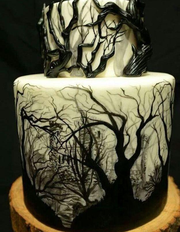 Gâteau halloween adultes
