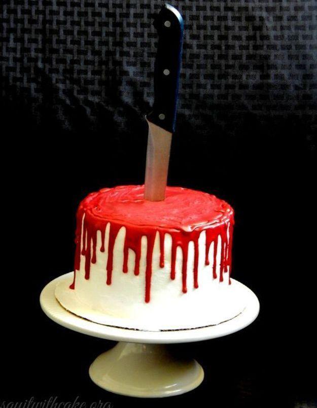 Gâteau halloween dégoûtant