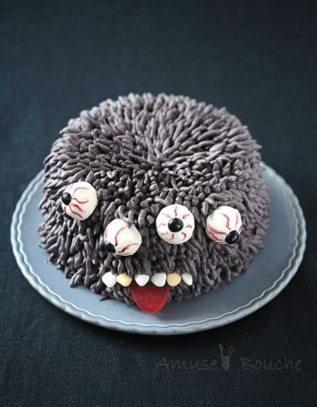 Gâteau monstre Halloween